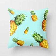 Tropical Salad Dream Throw Pillow