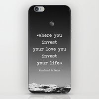 Invest your love iPhone & iPod Skin