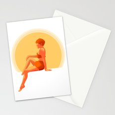 Lady by the Poolside Stationery Cards