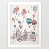 Voyages Over San Francis… Art Print
