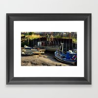 Low Tide Framed Art Print
