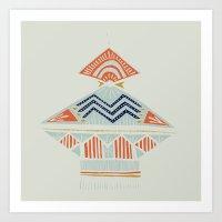 Pyramids 2 Art Print