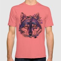 Indigo Wolf Mens Fitted Tee Pomegranate SMALL