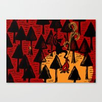 The Dancing Monster In T… Canvas Print