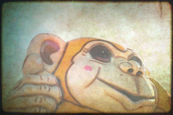 Happy Monkey Art Print