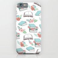 Books & Flowers Print iPhone 6 Slim Case