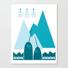 Heart the Narwhal Canvas Print