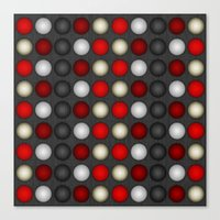 Dark Romance Polka Canvas Print