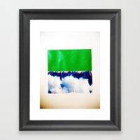 SKY/GRN Framed Art Print
