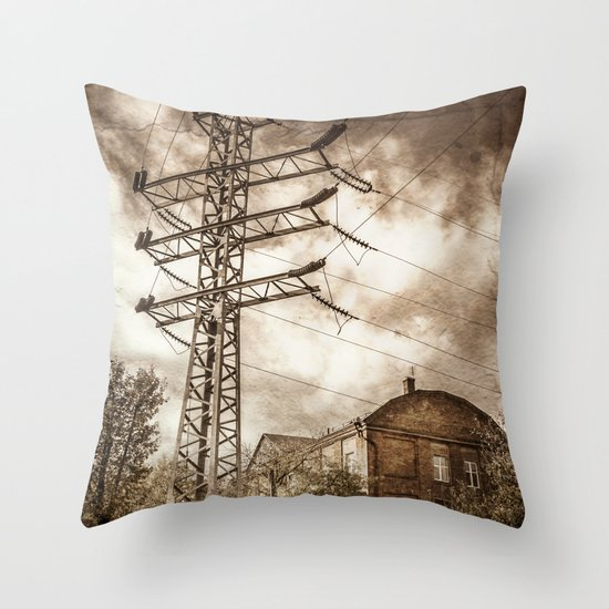 Old Powerstation Throw Pillow