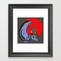 Aang In The Avatar State Framed Art Print