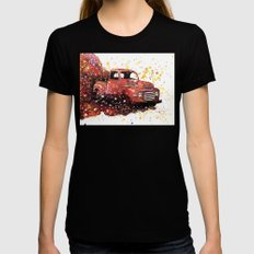 1950 Ford Truck Womens Fitted Tee Black SMALL