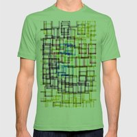 Construction Site Mens Fitted Tee Grass SMALL