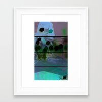 Lost In Thought Woman Framed Art Print