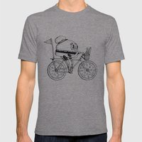 Pizzabike Burger Mens Fitted Tee Tri-Grey SMALL