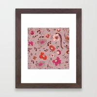 large floral print - pinks Framed Art Print