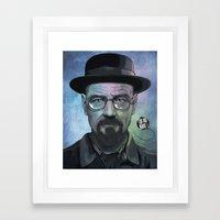 Heisenberg, Say my name! Framed Art Print