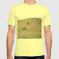 Gizelles  Mens Fitted Tee Lemon SMALL