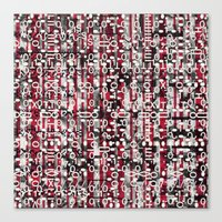 Linear Thinking Trip-Switch (P/D3 Glitch Collage Studies) Canvas Print