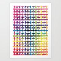 Stripes In Colours Art Print