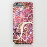 london iPhone & iPod Cases featuring London  by MapMapMaps.Watercolors