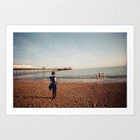 Staring At The Sea #2 Art Print