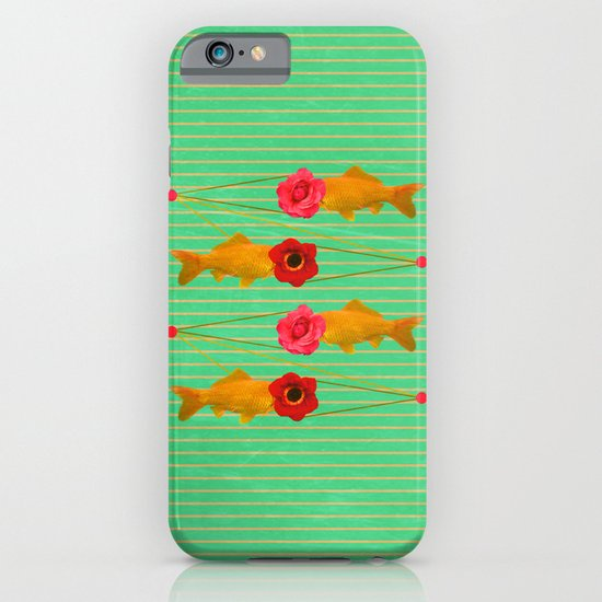 fishes and flowers iPhone & iPod Case