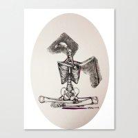 Mixed Media Drawing : Me… Canvas Print