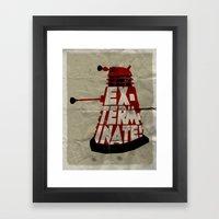 Doctor Who - Dalek EXTER… Framed Art Print