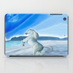 My Design - Beach with moon and horse iPad Case