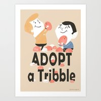 Adopt a Tribble Art Print