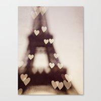 City of Love - Paris Canvas Print