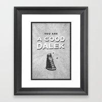 Doctor Who: A Good Dalek Framed Art Print
