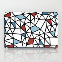 Segment Red and Blue iPad Case