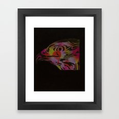 Neon Hawk 1 of 2 Framed Art Print