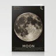 Stationery Cards featuring The Moon by Heather Landis