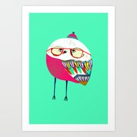 Owls are Cool Art Print