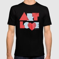 Art Love Mens Fitted Tee Black SMALL
