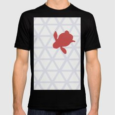 Triangle vs. Turtle SMALL Black Mens Fitted Tee