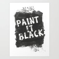 Paint It Black Art Print