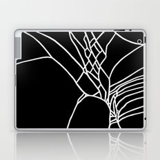 Cracked White on Black Laptop & iPad Skin