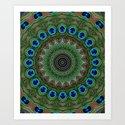 Peacock Abstract Art Print