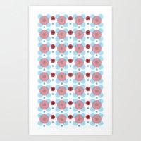 Dots Bubbles  Art Print