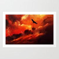 Gökyüzü, Yeryüzü.. Art Print