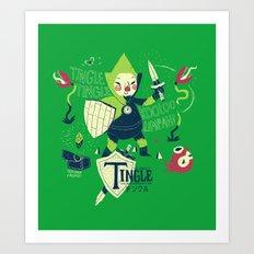 the legend of tingle Art Print