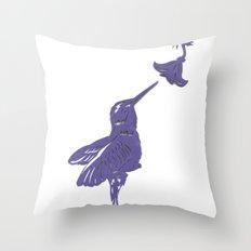 Lavender Hummingbird Papercut Throw Pillow