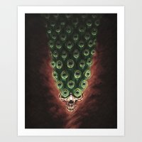 The Peacock's Tail Art Print