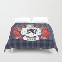 Edwards Crest and Tartan Duvet Cover