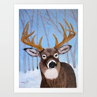 Winter Buck Art Print