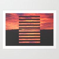Black Strips Art Print